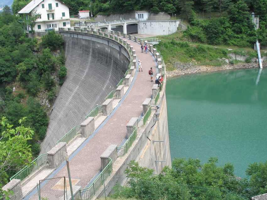 La diga di Ponte Alto